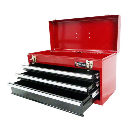 Excel TB133A-Red 21-Inch Portable Steel Tool Box