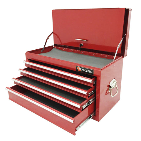 Excel TB2060BBSA-Red 26-Inch Portable Steel Tool Box Chest