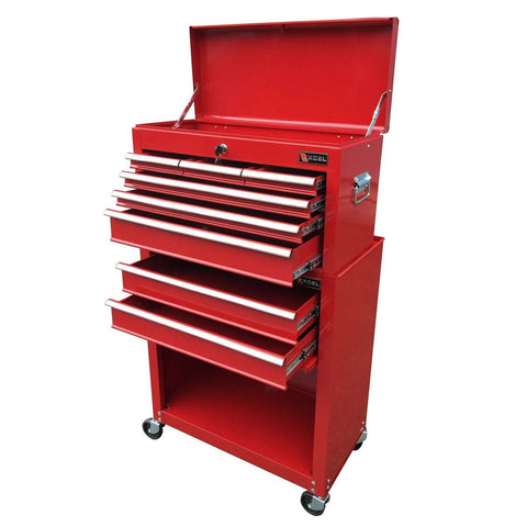 Excel 24 in. 8 Drawer Roller Tool Box Combo TB220A-X+B-X