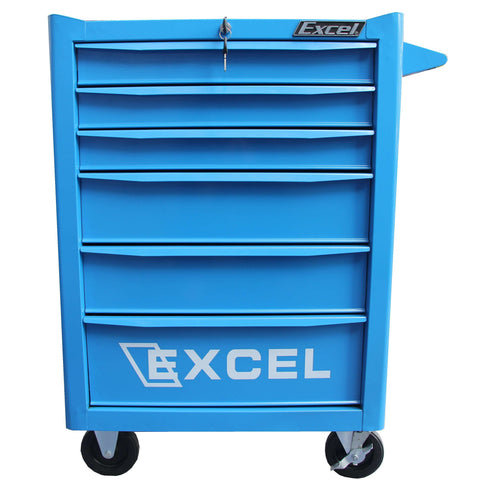 Excel TB2907-X 26 inch Roller cabinet with six ball bearing slide drawers