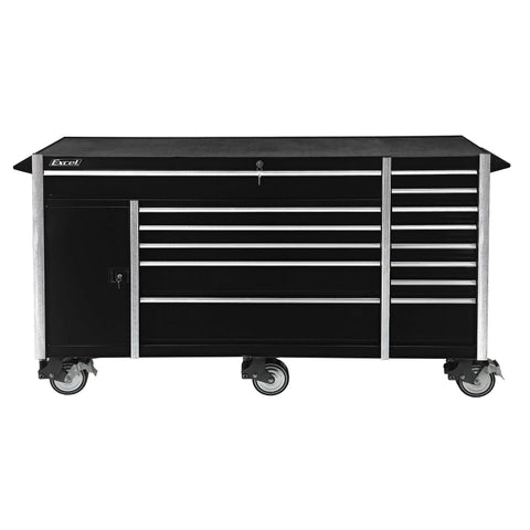 Excel TB7207X Tool Box Roller Cabinet with Fourteen Drawers, 72-Inch