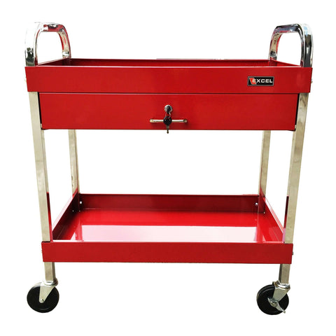 Excel TC303D-Red 30-Inch Steel Tool Utility Cart