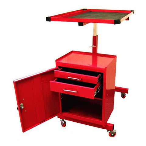 Excel TC304C-Red 31-Inch Steel Tool Box Utility Cart