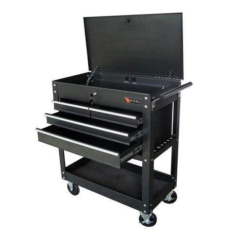 Excel TC400 Four Drawer Tool Box Utility Cart