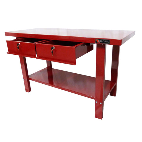 Excel TSC5911-Red 59-Inch Steel Workbench Station