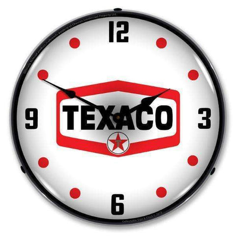 Collectable Sign & Clock Texaco HexagonCollectable Sign & Clock Texaco HexagonGarage Systematic