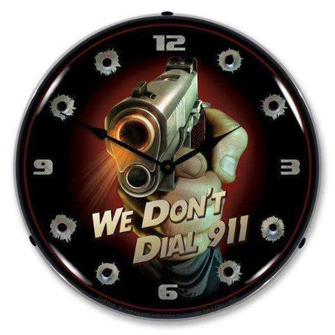 Collectable Sign & Clock We Dont Dial 911Collectable Sign & Clock We Dont Dial 911Garage Systematic