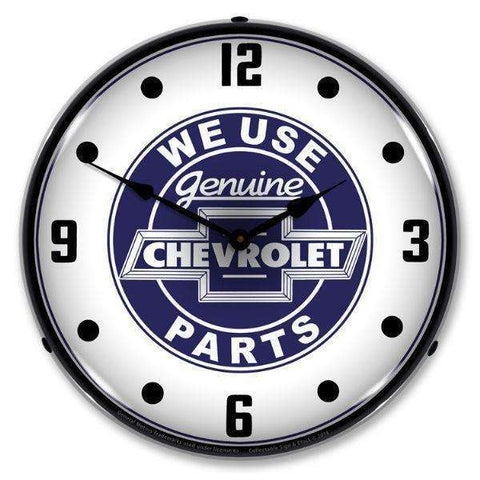 Collectable Sign & Clock We Use Chevrolet PartsCollectable Sign & Clock We Use Chevrolet PartsGarage Systematic