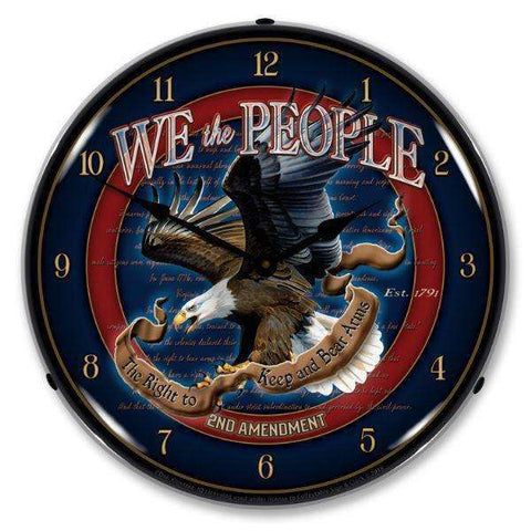 Collectable Sign & Clock We the People 2nd AmendmentCollectable Sign & Clock We the People 2nd AmendmentGarage Systematic
