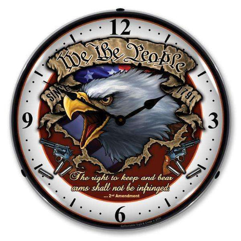 Collectable Sign & Clock We the PeopleCollectable Sign & Clock We the PeopleGarage Systematic