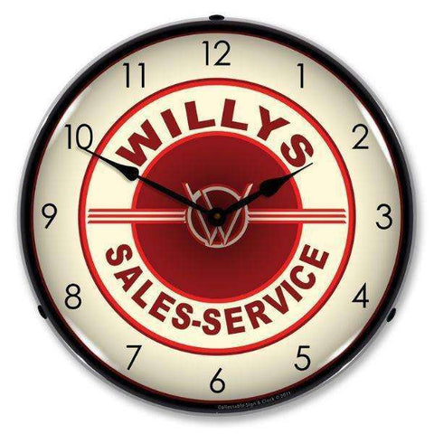 Collectable Sign & Clock Willys Sales and ServiceCollectable Sign & Clock Willys Sales and ServiceGarage Systematic