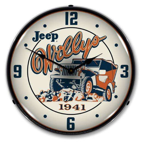 Collectable Sign & Clock Willys on the RocksCollectable Sign & Clock Willys on the RocksGarage Systematic