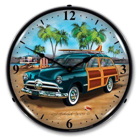 Collectable Sign & Clock Woodys Surfer WagonCollectable Sign & Clock Woodys Surfer WagonGarage Systematic