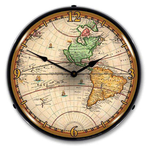 Collectable Sign & Clock World Map 1730Collectable Sign & Clock World Map 1730Garage Systematic