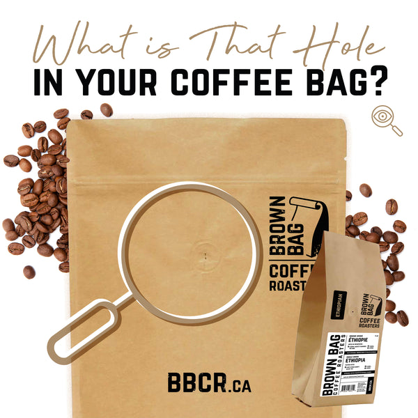 What is that hole in your coffee bag?