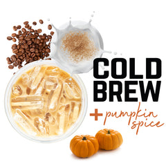 COLD BREW + pumpkin spice