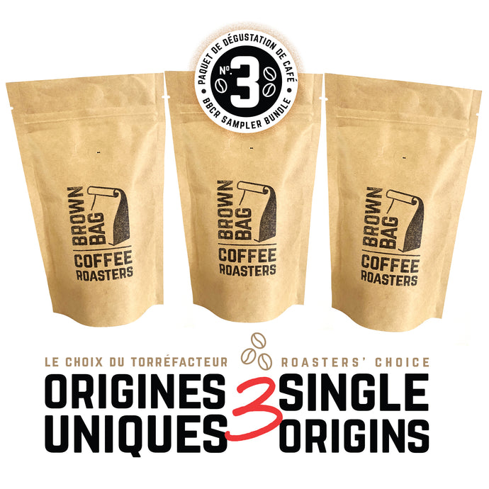 No.3 BBCR sampler bundle | Le no.3 paquet de dégustation de café