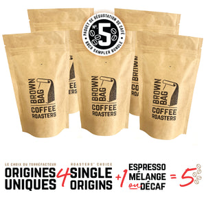 No.5 BBCR sampler bundle | Le no.5 paquet de dégustation de café