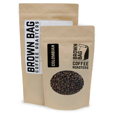 BBCR's Colombian single origin coffee bags are available in 2 sizes: 227 grams and 454 grams.