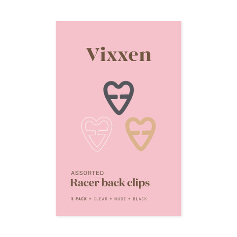Racer Back Clips - Heart Shape