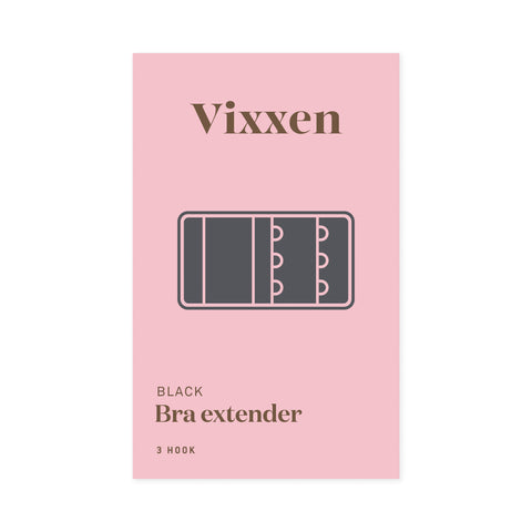 Bra Extender 3 Hook Black