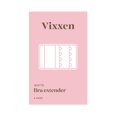 Bra Extender 4 Hook White