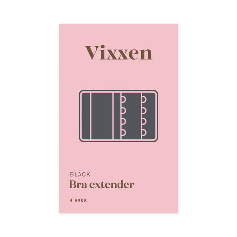 Bra Extender 4 Hook Black
