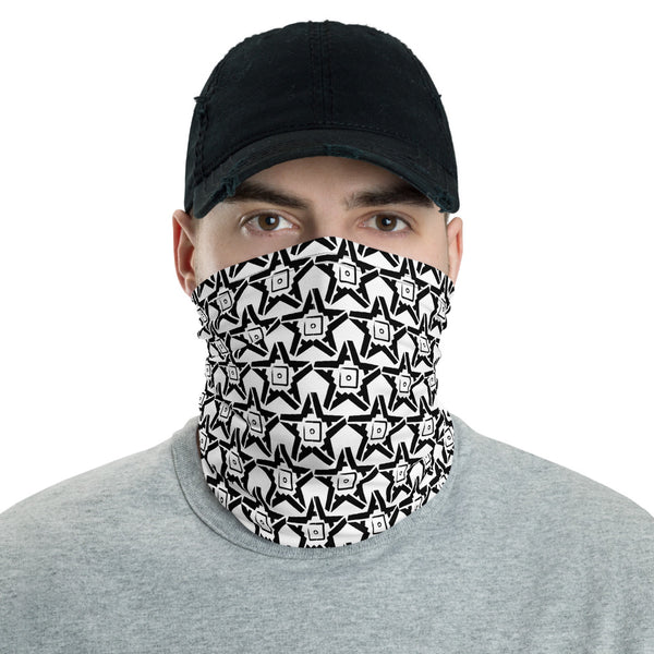 5A Star Neck Gaiter (Black on White)