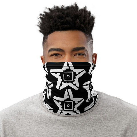 5A Star Neck Gaiter (White on Black)