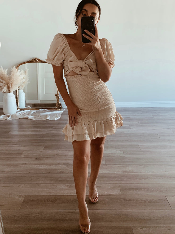 Lost without you cream dress
