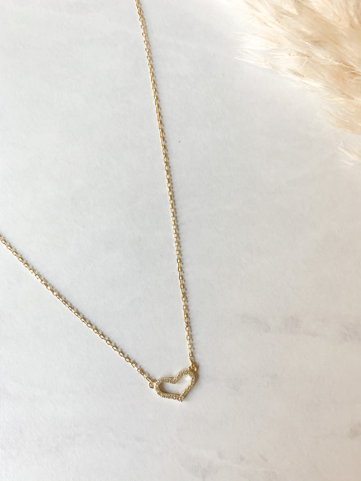 Tessa Heart Necklace Luxe