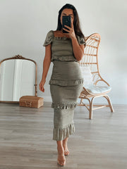 Bella Dress Olive