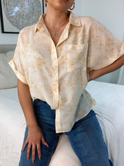 Lucy yellow printed top