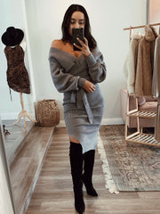 Jackie O Dress Gray
