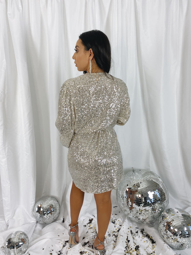 Champagne Girl Wrap Dress