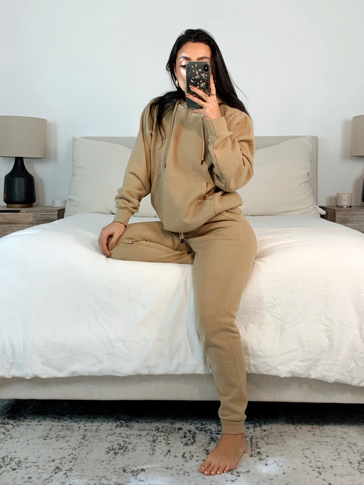 Essential Sweat set taupe