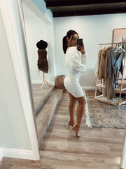 Yours truly dress white
