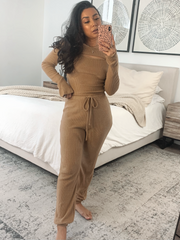 Breakfast club mocha loungewear set