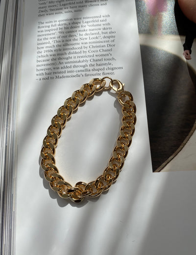 Golden chains bracelet
