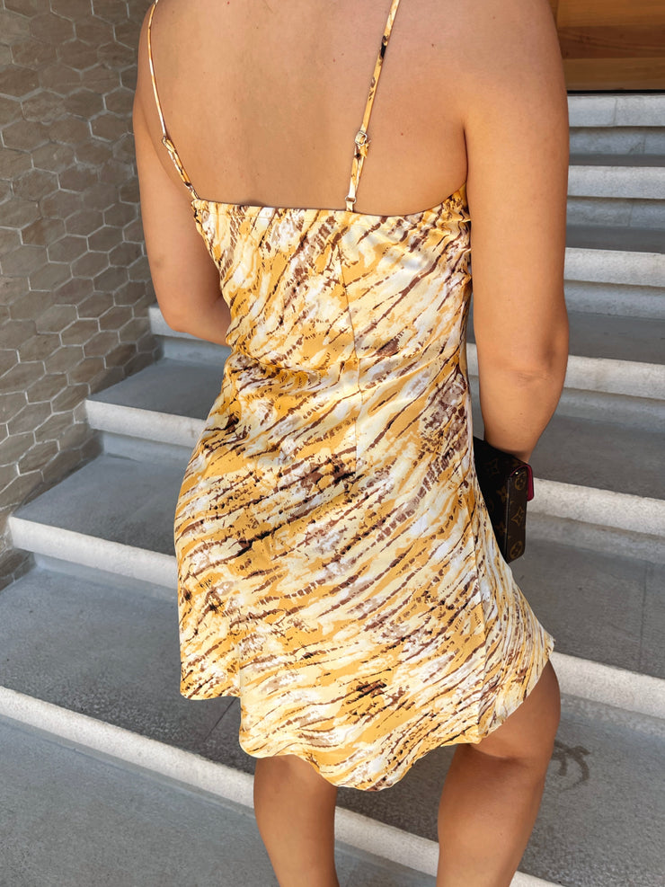 Mykonos yellow dress