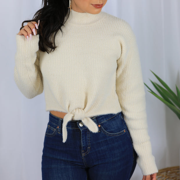 Why Knot sweater cream