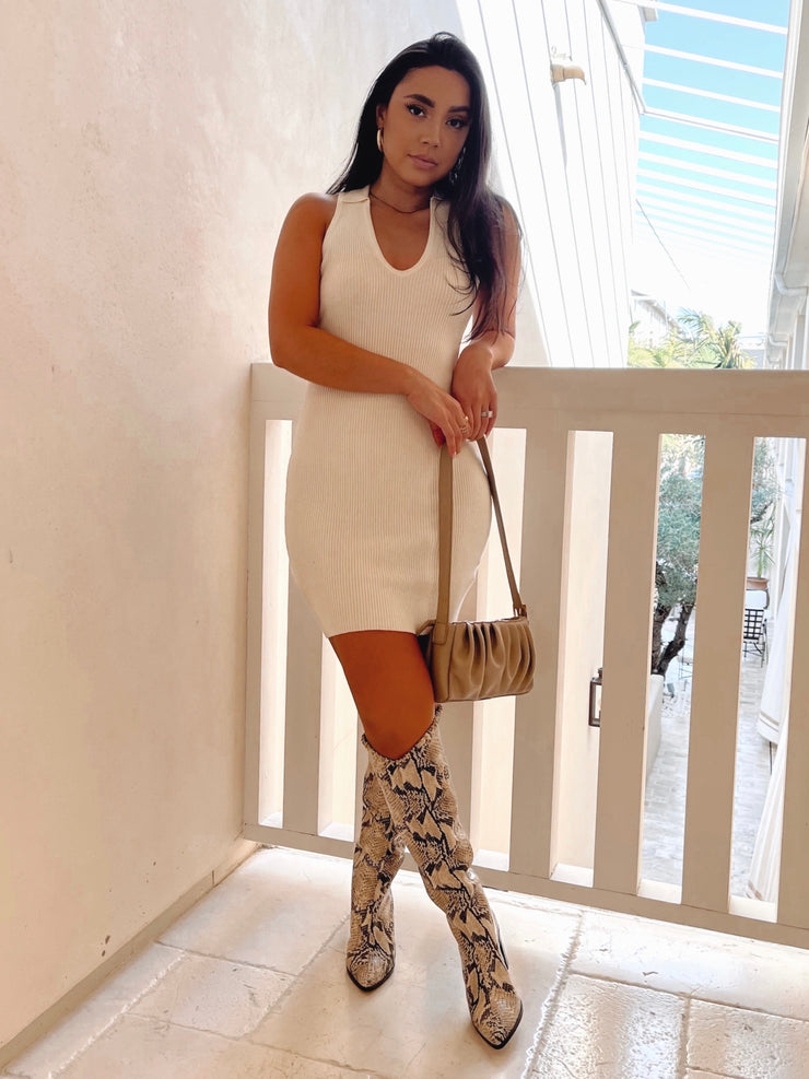 Adriana cream dress