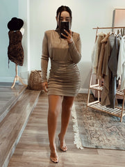 Sasha Dress Taupe