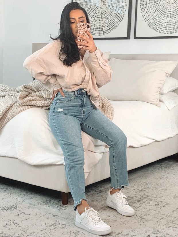 Olivia High rise girlfriend jeans