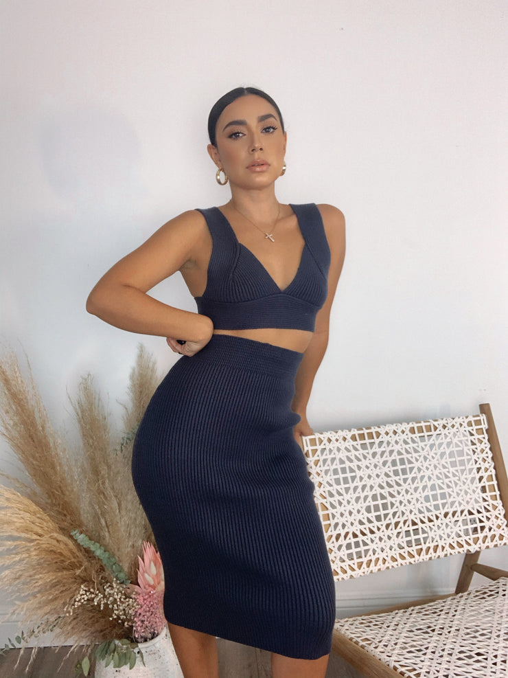 Mila Navy blue dress