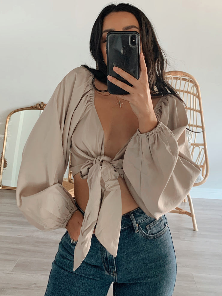 Aubree top cream