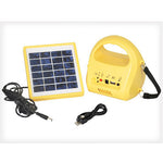 Solar Powered Camp Light with USB Charger & FM
