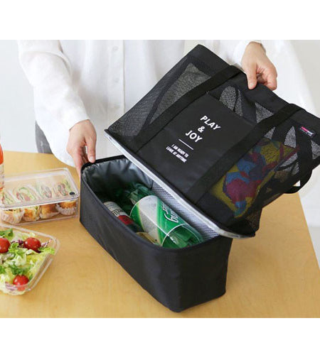Dual Compartment Portable Cooler Bag