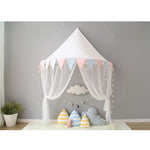 French Chic Children's Bedroom Chiffon Wall Canopy