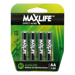 MAXLIFE AA Alkaline Battery 4 Pack